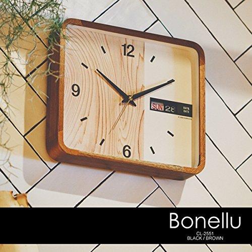 壁掛け時計BonelluボネルCL-2551BKブラック
