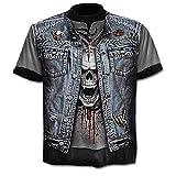 Chemise - t-Shirt Rock - Chemise tête de Mort - tête de Mort - 3D -...