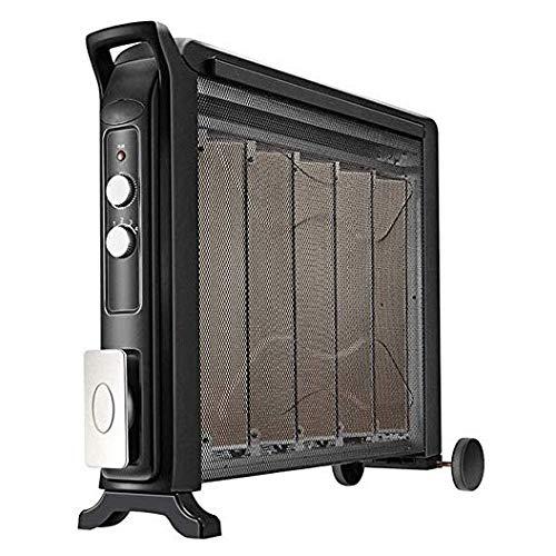 SZHWLKJ Con Aceite Calentador de Espacios, de Ahorro de energía eléctrica silenciosa del radiador, con humidificación Caja de Secado Bastidor móvil Ruedas, for el Estudio