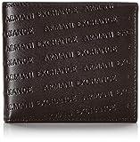 Armani Exchange Herren Bifold W/Coin Pocket Zweifalten-Geldbörse, Schwarz (Nero-Black), 2.5x11.3x9.8 cm (B x H x T)