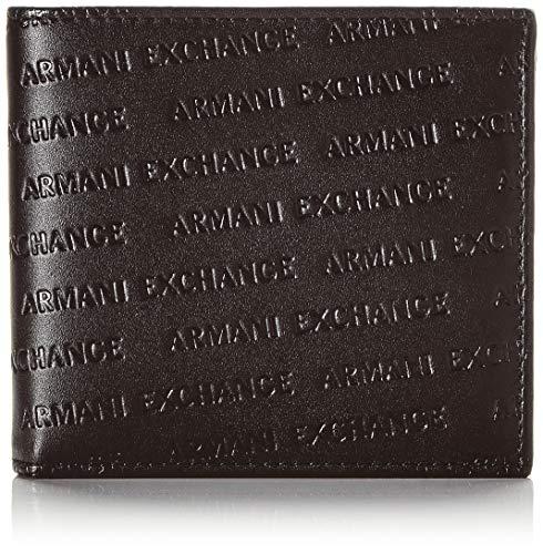 Armani Exchange Bifold W/Coin Pocket, Portafoglio, Pieghevole in Due Uomo, Nero (Nero/Black), 2.5 113 Cmx 98 Centimeters (B x H x T)