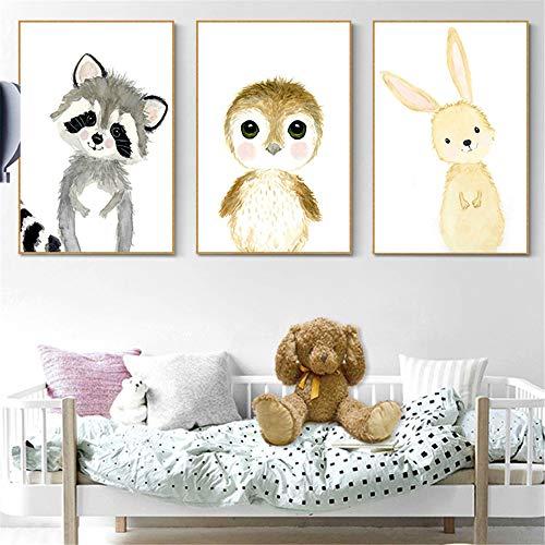 LucaSng 3er Set Poster Kinderzimmer Deko - Bilder Babyzimmer DIN A4 - Wandbilder Kinderbilder Babyzimmer Babybilder (C)