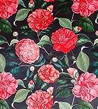 Tela de terciopelo de rosas japonesas se vende por metro,...