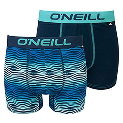 O'Neill Herren | Boxer-Short | Basic-Line | 2er Set | für jeden Tag (Blue/Navy, XXL)