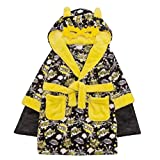 Style It Up - Bata - para niño Black Superhero Kapow Robe - Hooded 2-3 Años