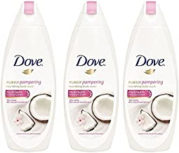Dove Purely Pampering Coconut Milk with Jasmine Petals Body Wash 500ML (3 pack) International Version