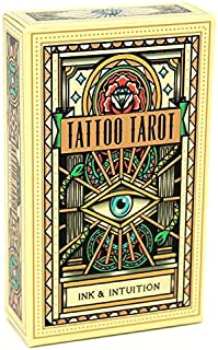 Koolife Eyes Tattoo Tarot Cards for Beginners and Expert...