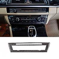 BMW5シリーズF10F18 520 2011-2017の場合、カーボンファイバーカーセンターエアコンデコレーションフレームトリムステッカーカーステッカー