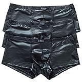YFD - Ropa interior para hombre, calzoncillos, slip, bóxer, tanga, bañador para hombre, color negro, lencería, 3 unidades 3 unidades. L