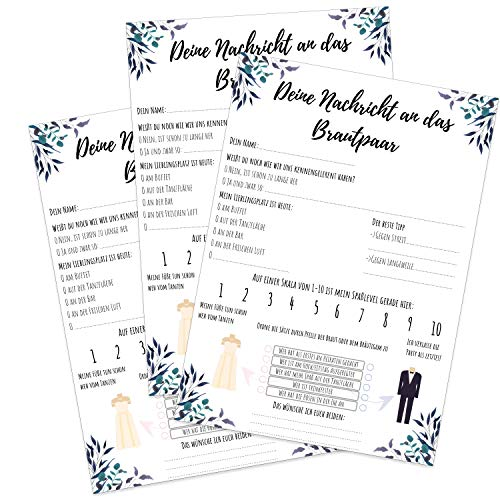 MAVANTO 50x Design Gästekarten DIN A5 Alternative zum Gästebuch - Wunderschöne Gästebuchkarten...