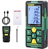 Laser Measure Rechargeable, TECCPO Laser Distance Meter 196ft, 99 Sets Data Storage, Electronic Angle Sensor, 2.25' LCD...