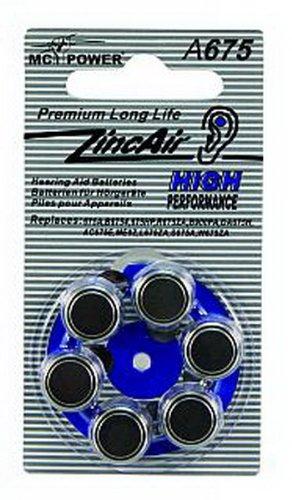 ZincAir Piles boutons Camelion A675 pour appareils auditifs