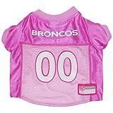 Pets First NFL Denver Broncos Jersey, Large, Pink