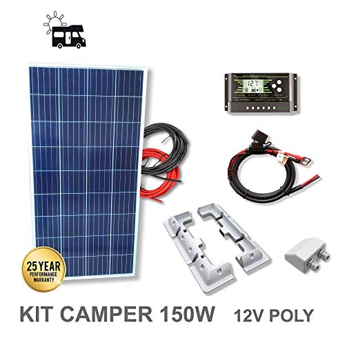 VIASOLAR Kit 150W Camper 12V Panel Solar