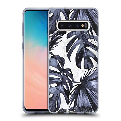 Head Case Designs Licenciado Oficialmente Nature Magick Playa Azul Marino Hojas de Palmera Tropical en Mármol Carcasa de Gel de Silicona Compatible con Samsung Galaxy S10