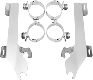 Polished for Suzuki VL1500 Boulevard 2005-2009 Memphis Shades MEK1920 Trigger-Lock Mounting Kit