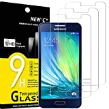 NEW'C 3 Stück, Schutzfolie Panzerglas für Samsung Galaxy A3 2015, Frei von Kratzern, 9H Festigkeit, HD Bildschirmschutzfolie, 0.33mm Ultra-klar, Ultrawiderstandsfähig