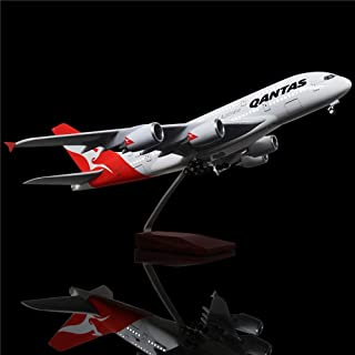 LESES 1:160 Scale LED Light Model Airplane Australia Airbus 380 18 inches Resin Display Plane Model