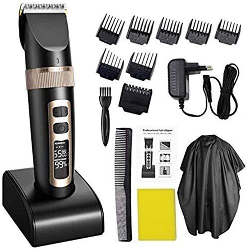 Herramienta de corte de pelo tijeras de pelo profesional Clippers inalámbricos corte de pelo Super Silent eléctricos cortar el pelo de la barba recargable del corte de pelo de afeitar de doble propósi