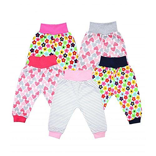 TupTam Unisex Baby Pumphose 5er Pack, Farbe: Mädchen, Größe: 62