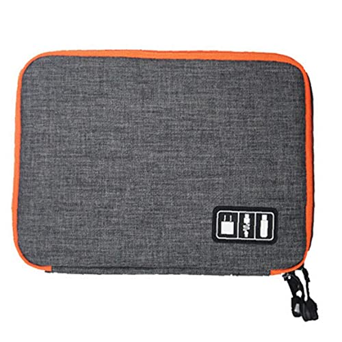 Cable Storage Bag Electronic Organizer Travel Electronics Accessory Bag for Hard Drive PowerBank Charger Earphone, Storage & Organisation