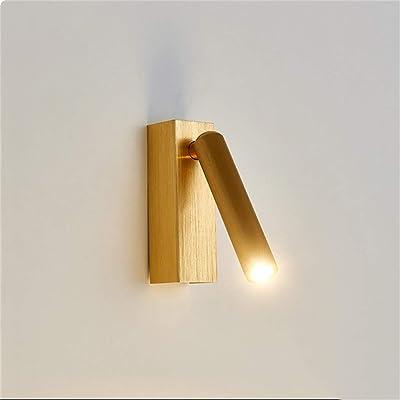 LED Applique Murale, Moderne Minimaliste Chambre D'hôtel Lampe Murale Tourbillonnant Chambre Applique Murale De Chevet Lecture Applique Murale (Couleur: Or Brossé)
