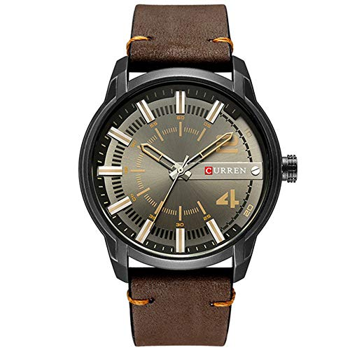 Top Brand Luxury Fashion Leather Strap Quartz Men Watches Business Relojde Pulsera Impermeable relogio Masculino
