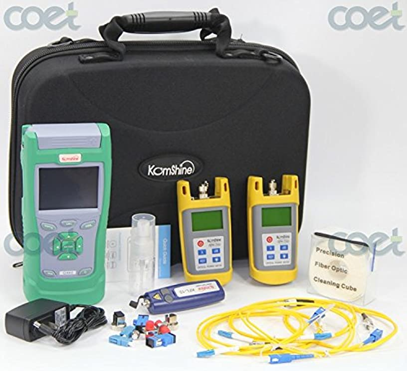 Komshine FTTH Fiber Test Tool Kit With QX30 1550nm 28dB SM OTDR Tester & Optical Power Meter & Optical Light Source (KQX-30)