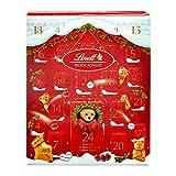 Lindt Teddy Advent Calendar, 24 Assorted Milk Chocolate Surprises, Teddy, Mini Teddy, Gold Reindeer, Napolitans, Lindor, Snowdrops, 250 g
