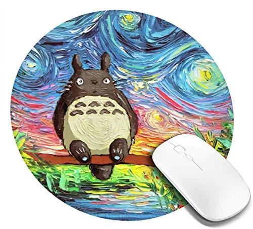 GeRight Work – Totoro liten rund musmatta 8 x 22 cm skrivbordsarbete musmatta speldator PC musmatta för hem/kontor/spel.