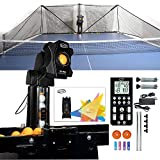 ZXMT Table Tennis Robot Machine Upgrade Q8-PRO Tabletop Ping Pong Ball Robot Trainer with Catch Net