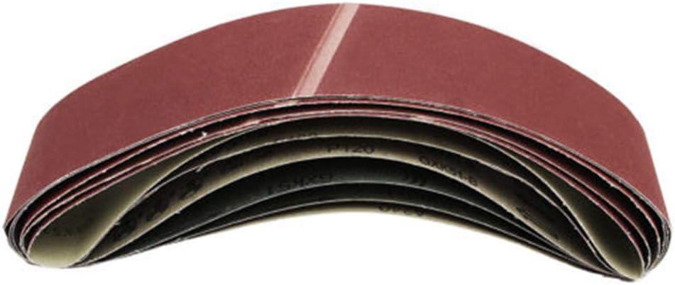 lijadora de correa 5 unidades, grano 40 SUPERTOOL Bandas de lija de /óxido de aluminio para carpinter/ía pulido de metales