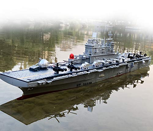 29' Inch Remote Controlled Warship Battleship 6.8km/h 2.4G 4WD Rc Radio Controlled Ship On Water Lakes Pools Exhibits Models