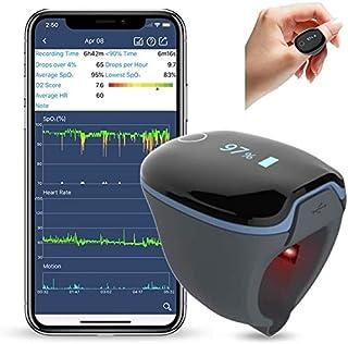 Monitor de Oxígeno, Monitor de Oxígeno Bluetooth, Llevable, Monitor de Ritmo Cardíaco, Retroalimentación de Vibración, App para Android e iOS, Reporte de PC, Fitness y Aviación