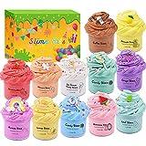 Necvediy Paquete de 12 unidades de limo de mantequilla perfumado con café, arco iris, unicornio, helado, sandía y mucho más, suave y no pegajoso juguete de masilla de masilla para niños