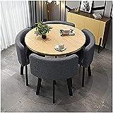 Xkun Juego de mesa y silla de cocina moderna mesa de cuatro personas y mesa de comedor y silla conjunto de mesa compacta y silla