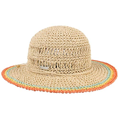 Seeberger Rollable Crochet Schlapphut Strohhut Damenhut Sommerhut Sonnenhut (One Size - orange)