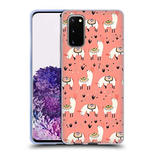 Head Hülle Designs Offiziell Offizielle Lidiebug Weisses Lama 3 Tiermuster Soft Gel Handyhülle Hülle kompatibel mit Samsung Galaxy S20 / S20 5G