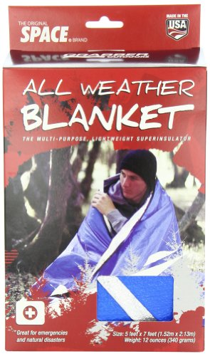 Grabber - The Original Space Brand All Weather Blanket - Blue (5' x 7')