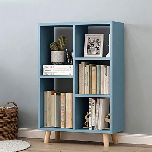 NgMik Bookshelves Storage Rack Simple Small Bookcase Open Shelf Storage With 5 Book Shelves For CDs, Records, Books, Home Office Decor 2 Colors Utility Organizer Shelves