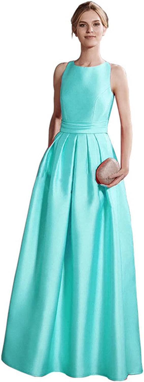Ai Maria Women's Long Style Evening Dress with Sleeveless and Backless