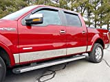 QAA fits 2009-2014 Ford F-150 12 Piece Stainless Rocker Panel Trim, Lower Kit, 7.25' - 7.5' Tapered Width TH49317