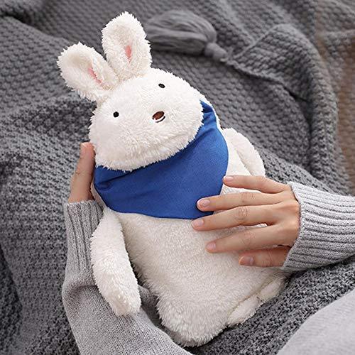 Hete-supply Wärmflasche Mit Deckel, Süße Plüschpuppe Hase Wärmebeutel, Anti-Verbrühungs-Spritzwasser Wärmebeutel, Baby Kinder Hand Fußwärmer, Ideal Für Schmerzlinderung