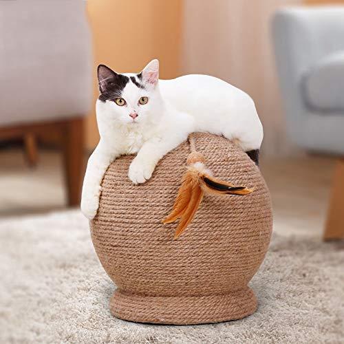 HONEY WYJ Pet Cat Scratch Board Speelgoed, Ronde Sisal Cat Scratching Tafel Bal Post Spelen Scratcher Sphere Speelgoed, Kitty Katten Grote Slijpen Apparaat Molars benodigdheden