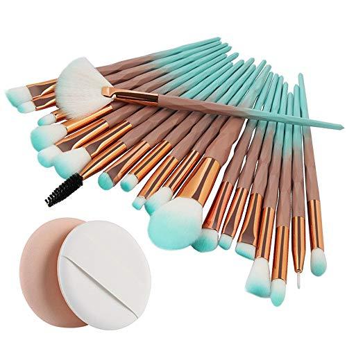IFOUNDYOU 20Pcs Einhorn Makeup Pinsel Set, Pulver Foundation Rouge Lidschatten Blending Pinsel Plus Puff