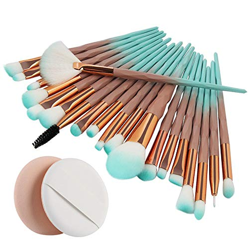 IFOUNDYOU 20Pcs Einhorn Makeup Pinsel Set, Pulver Foundation Rouge Lidschatten Blending Pinsel Plus Puff