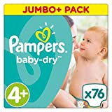 Pampers Baby Dry Taille 4 + Jumbo + Lot 76 couches