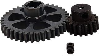 ZYCST 1 Set Metal Diff Main Gear 38T&Motor Pinion Gear 17T for RC 1/18 WLtoys A949 A959 A949 A959 A969 A979 RC Car Buggy U...