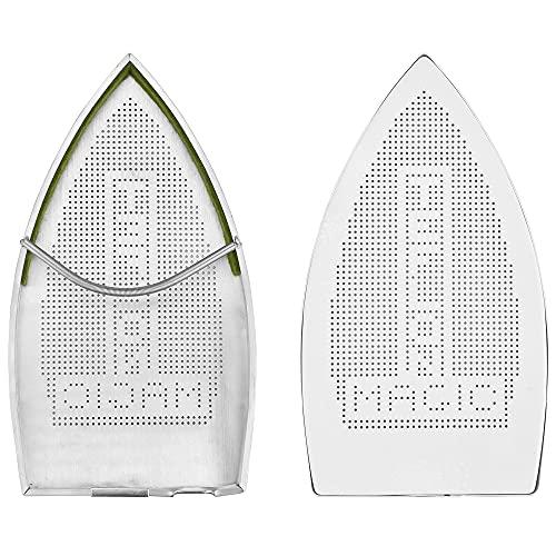 MONSIVILIA Cubierta de hierro para zapatos de teflón, funda de planchado de aluminio, apta para planchar, antiadherente, tela y protector de planchado, accesorios para la familia para hierro eléctrico