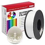 PLA Filament 1,75 mm,Impression 3D Filament PLA Pour Imprimante 3D et Stylo 3D,Précision Dimensionnelle +/- 0,02 mm,1 kg 1 Bobine (Blanc)